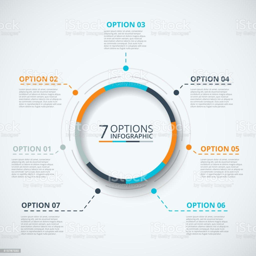 Vektor-Infografik design-Vorlage. – Vektorgrafik