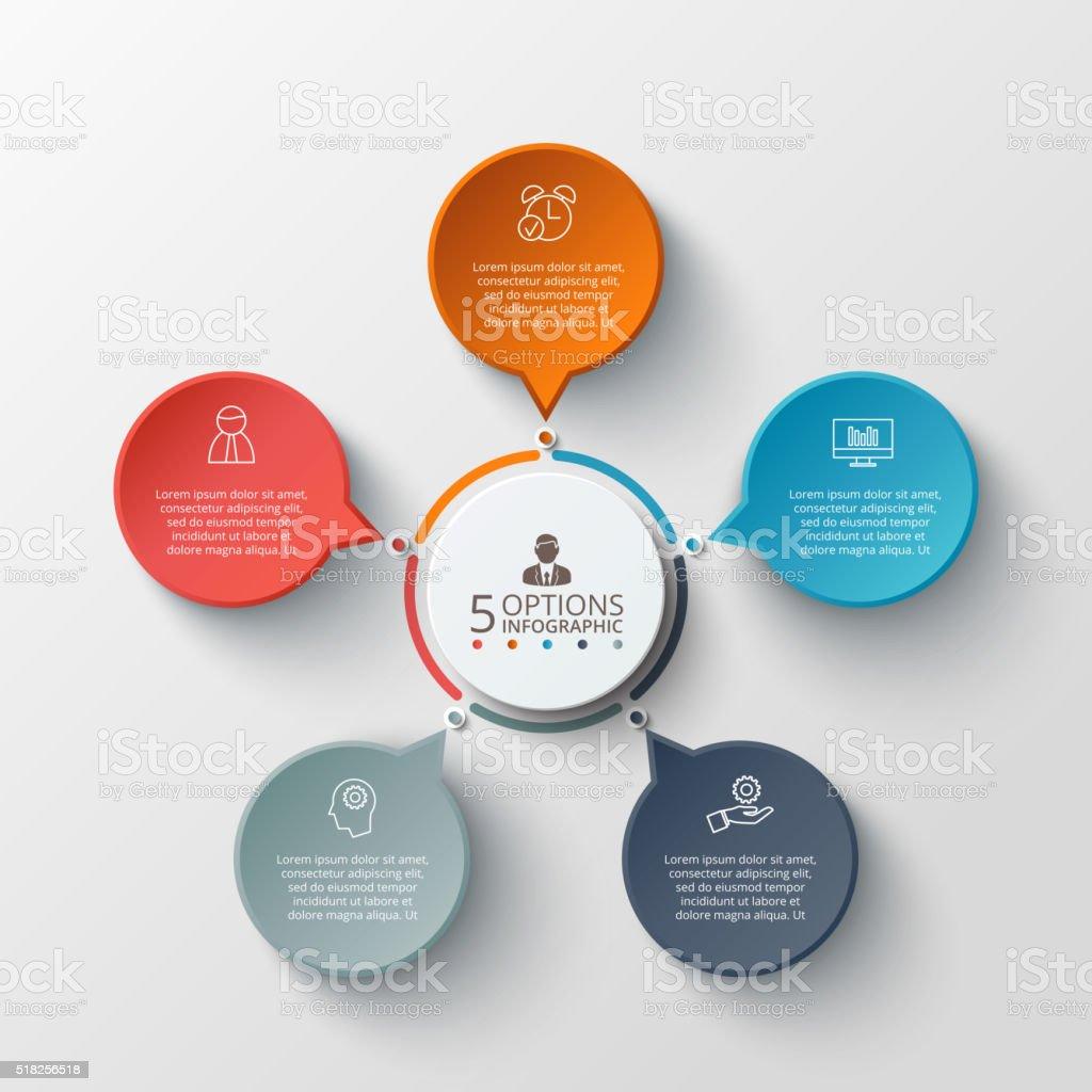 Vector infographic design template. vector art illustration