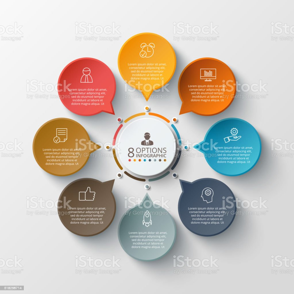 Vector infographic design template. vector art illustration