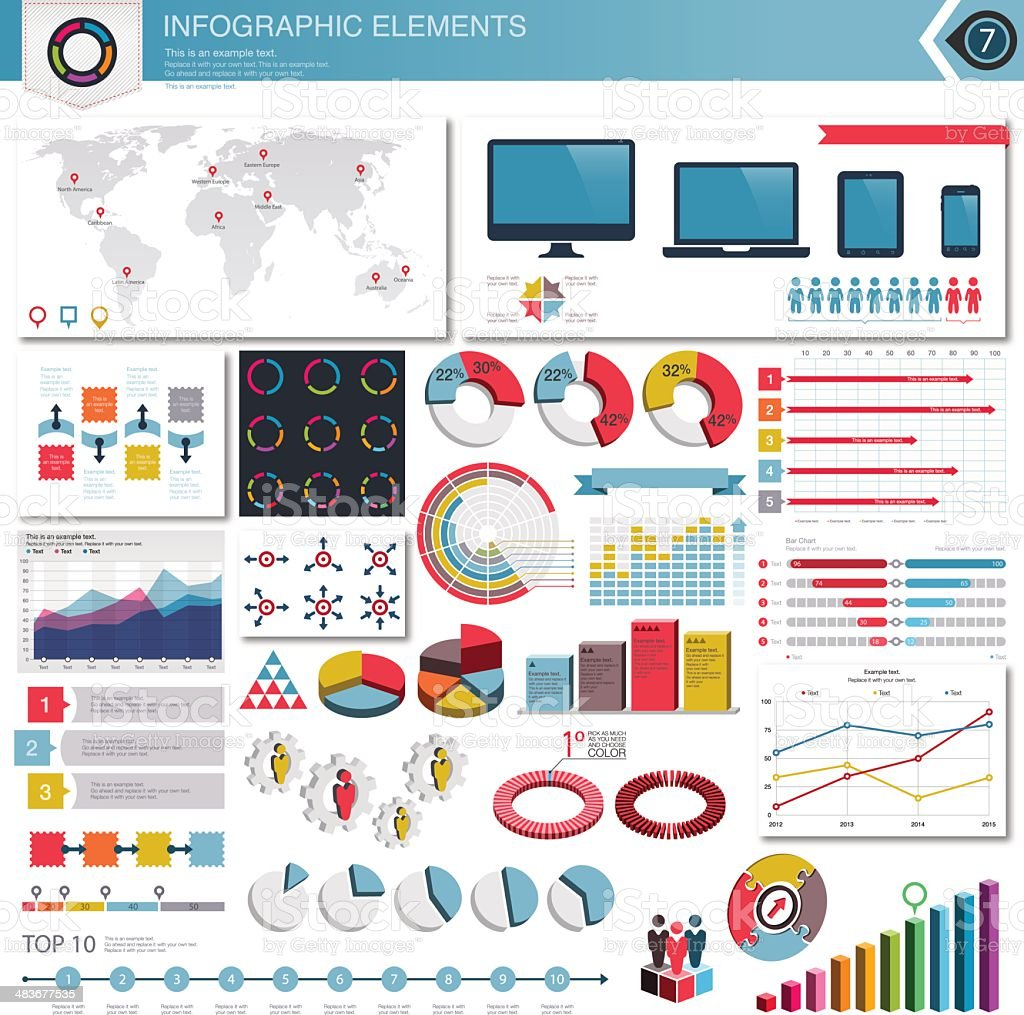 Vector Infographic Elements vector art illustration