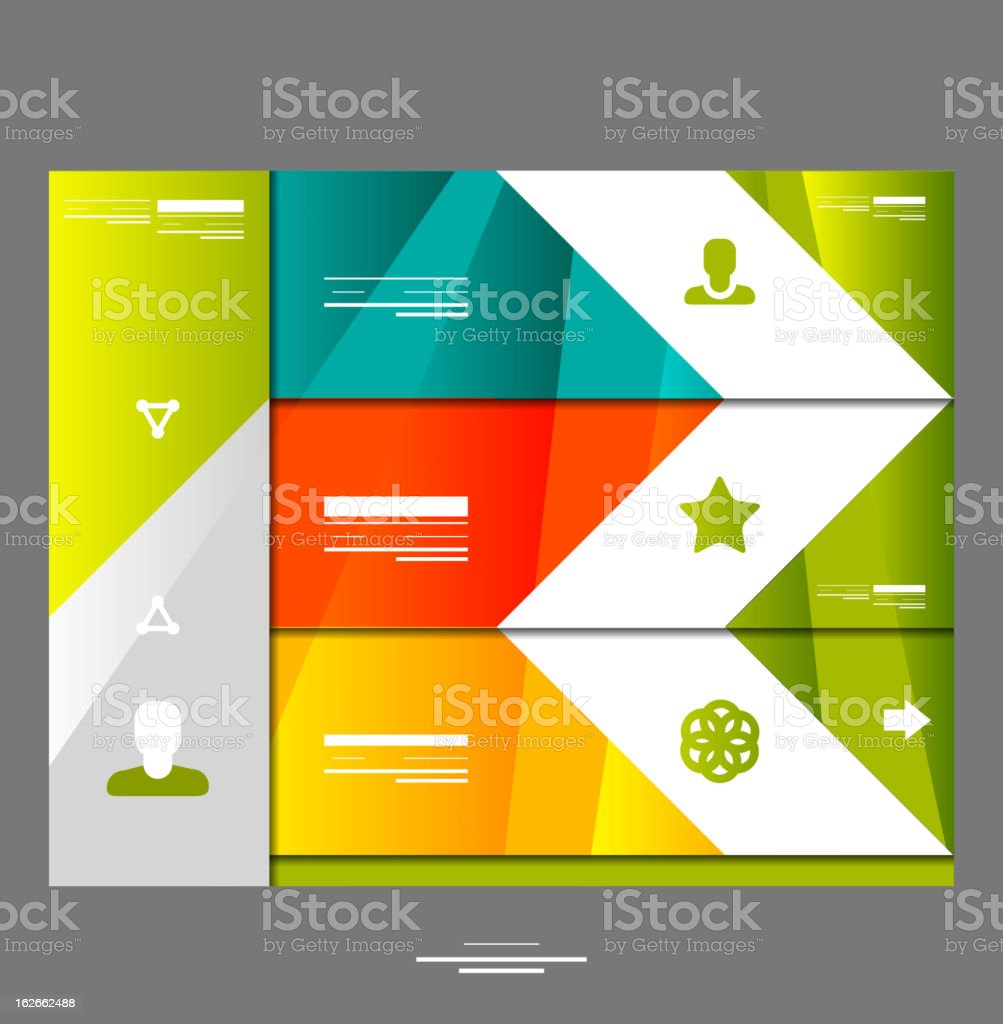 Vector infographic website design royalty-free stock vector art