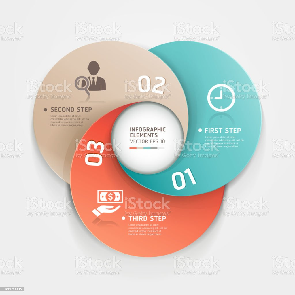 Vector infographics circle business templates royalty-free stock vector art
