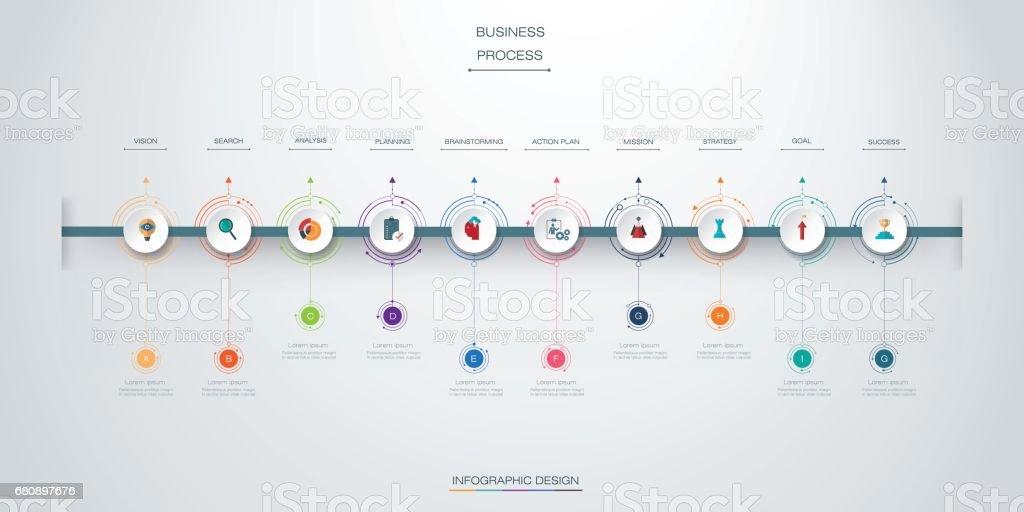 Vector infographics timeline design vector art illustration