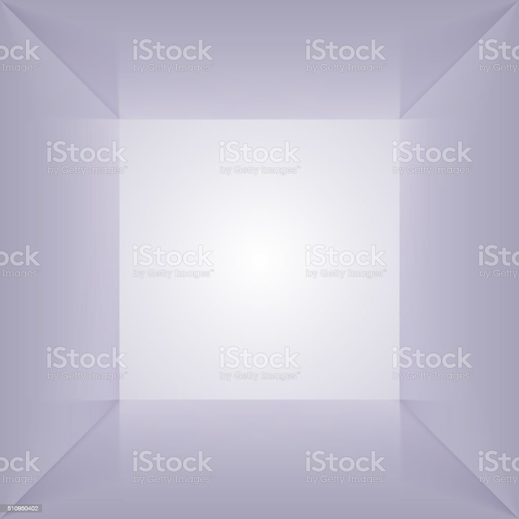 Vector inside of square lightbox. Empty interior space. vector art illustration
