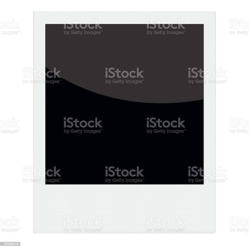 Vector instant photo frame template vector art illustration