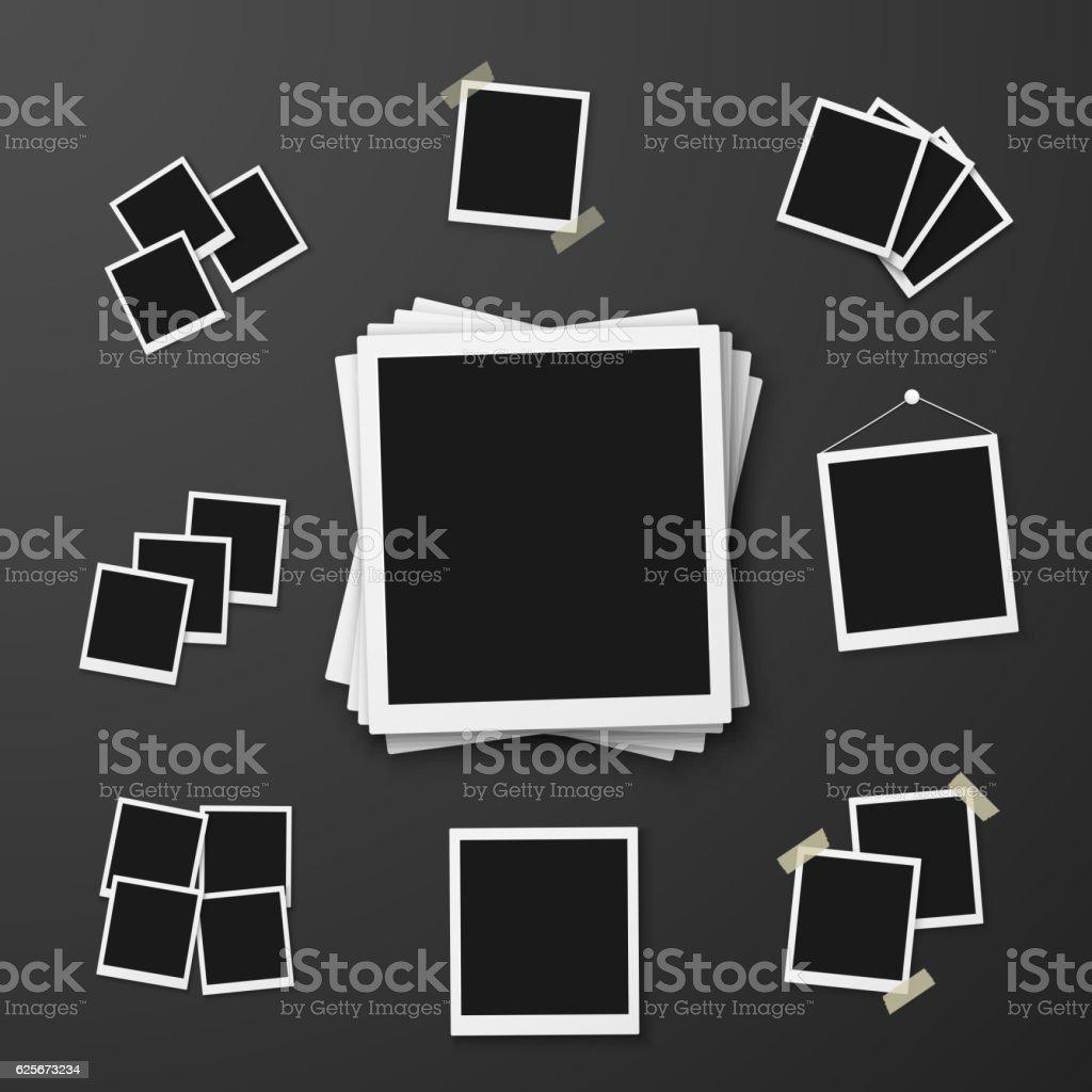 Vector Instant Photo. Photorealistic Vector EPS10 Retro Instant vector art illustration