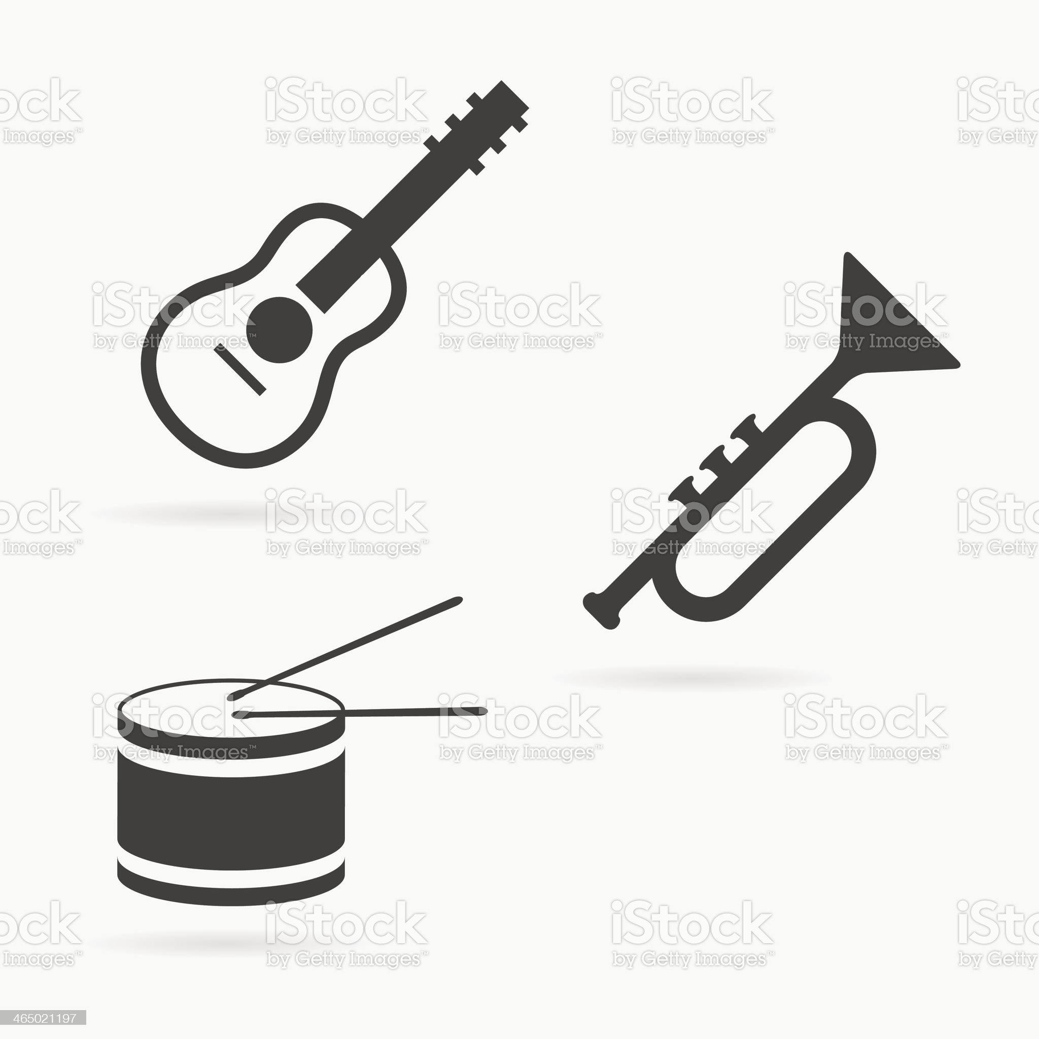 Vector instrument icons royalty-free stock vector art