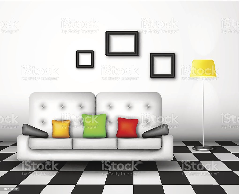 Vector interior design royalty-free stock vector art