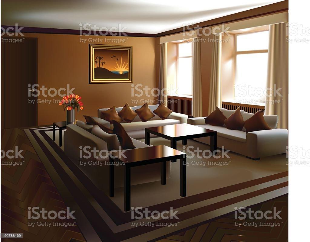 Vector interior royalty-free stock vector art