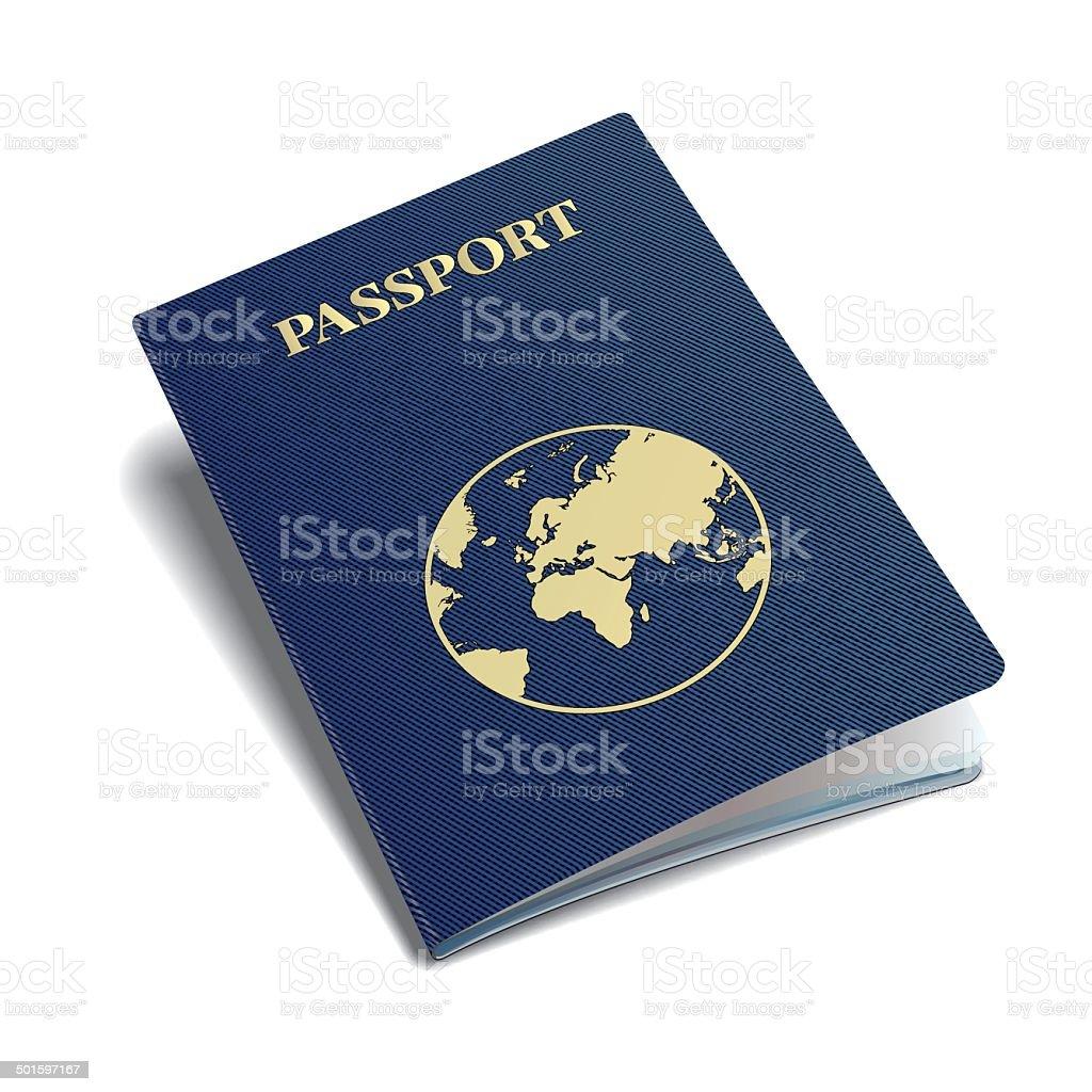 Vector international passport with globe. vector art illustration