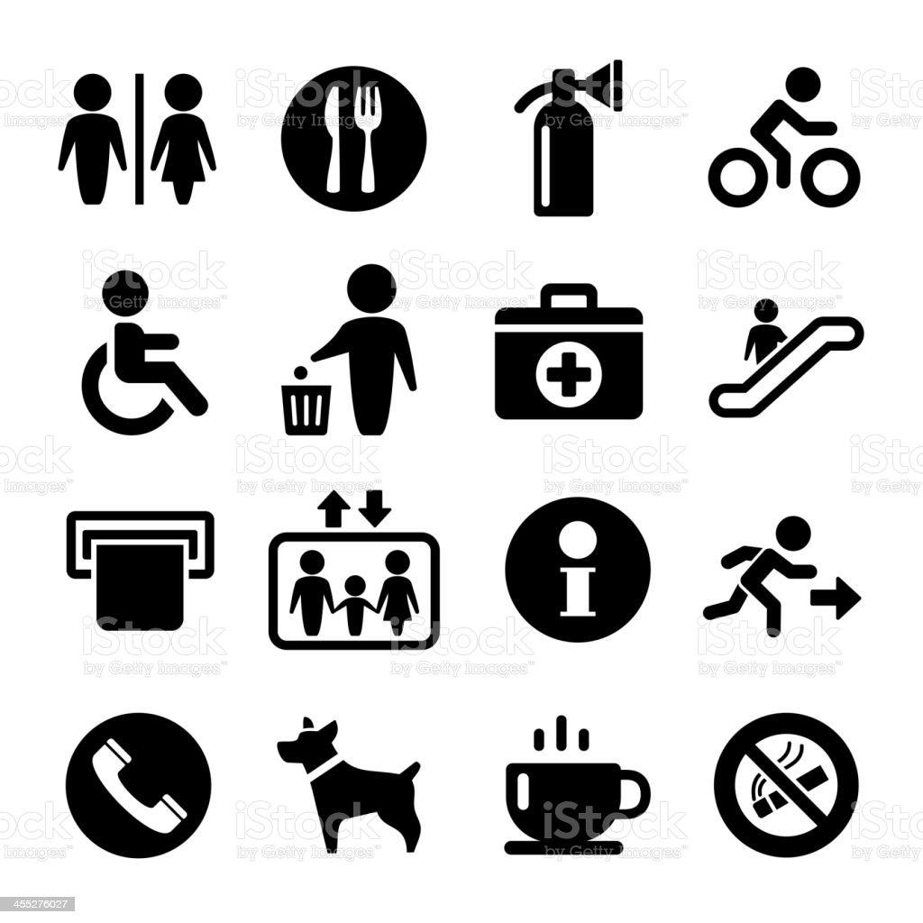 Vector International Service Signs icon set royalty-free stock vector art