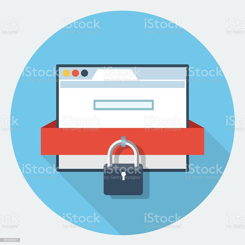 Vector internet security icon vector art illustration