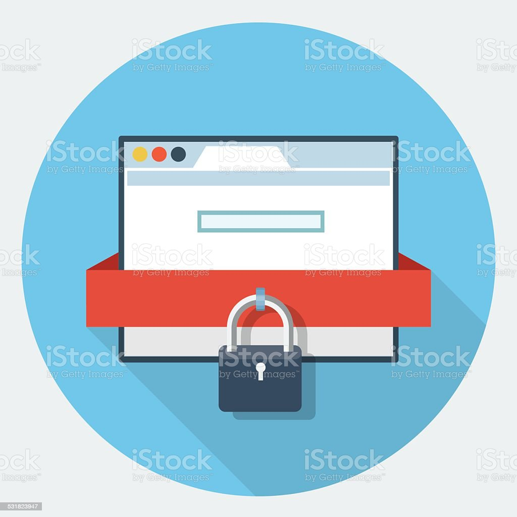 Vector internet security icon vector art illustration