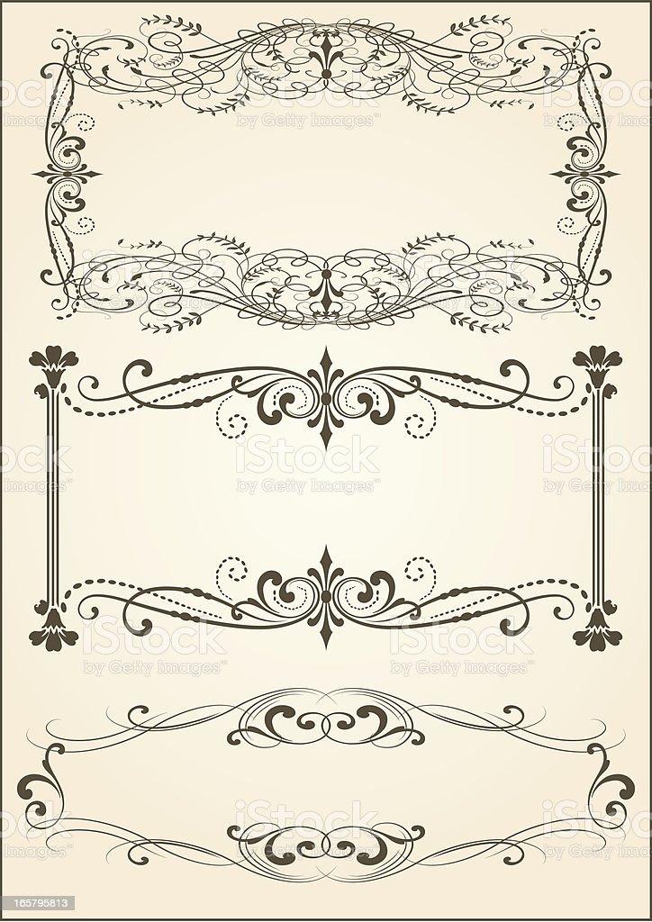 Vector Intricate Scroll Frames vector art illustration