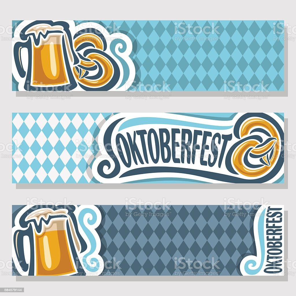 Vector invitation for oktoberfest vector art illustration