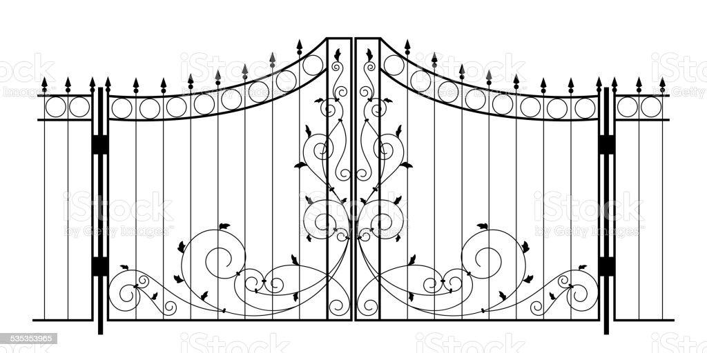 Vector Iron Gate vector art illustration