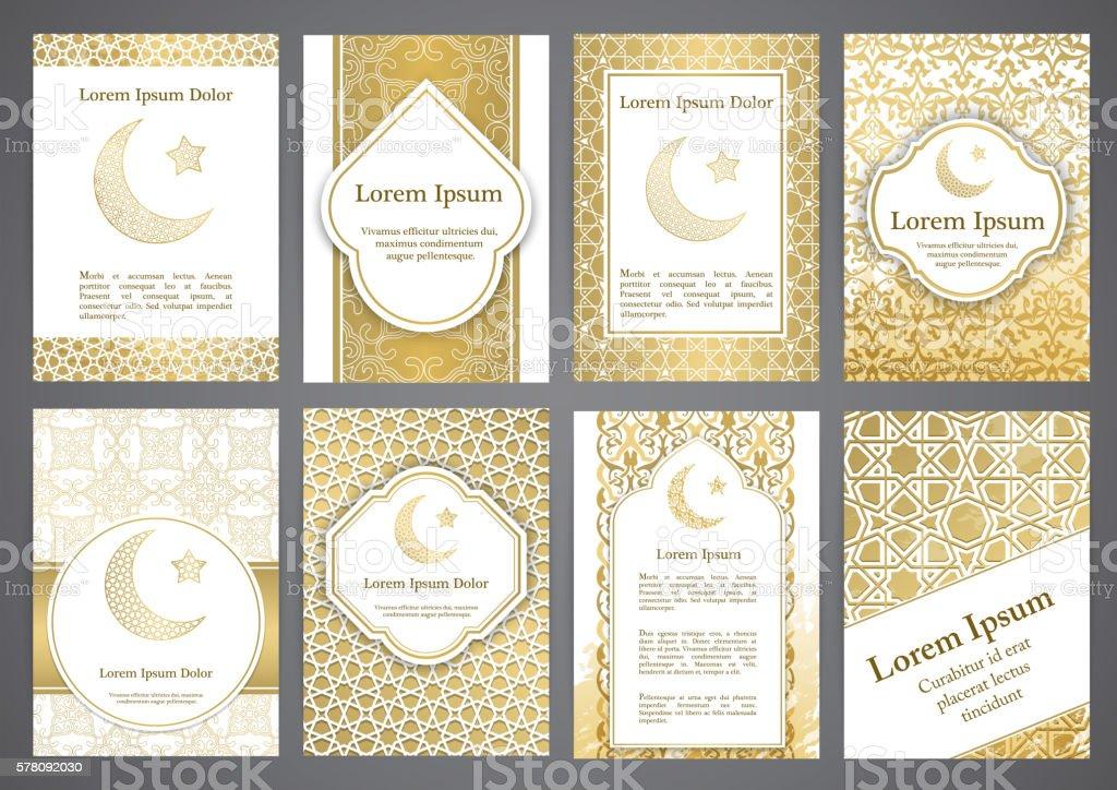 Vector islamic ethnic invitation design or background vector art illustration