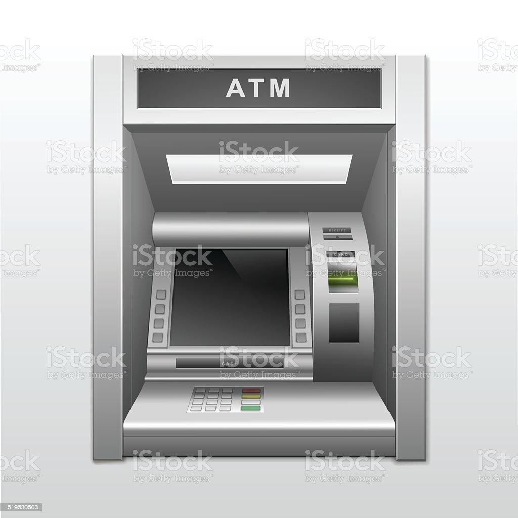 Vector Isolated ATM Bank Cash Machine vector art illustration