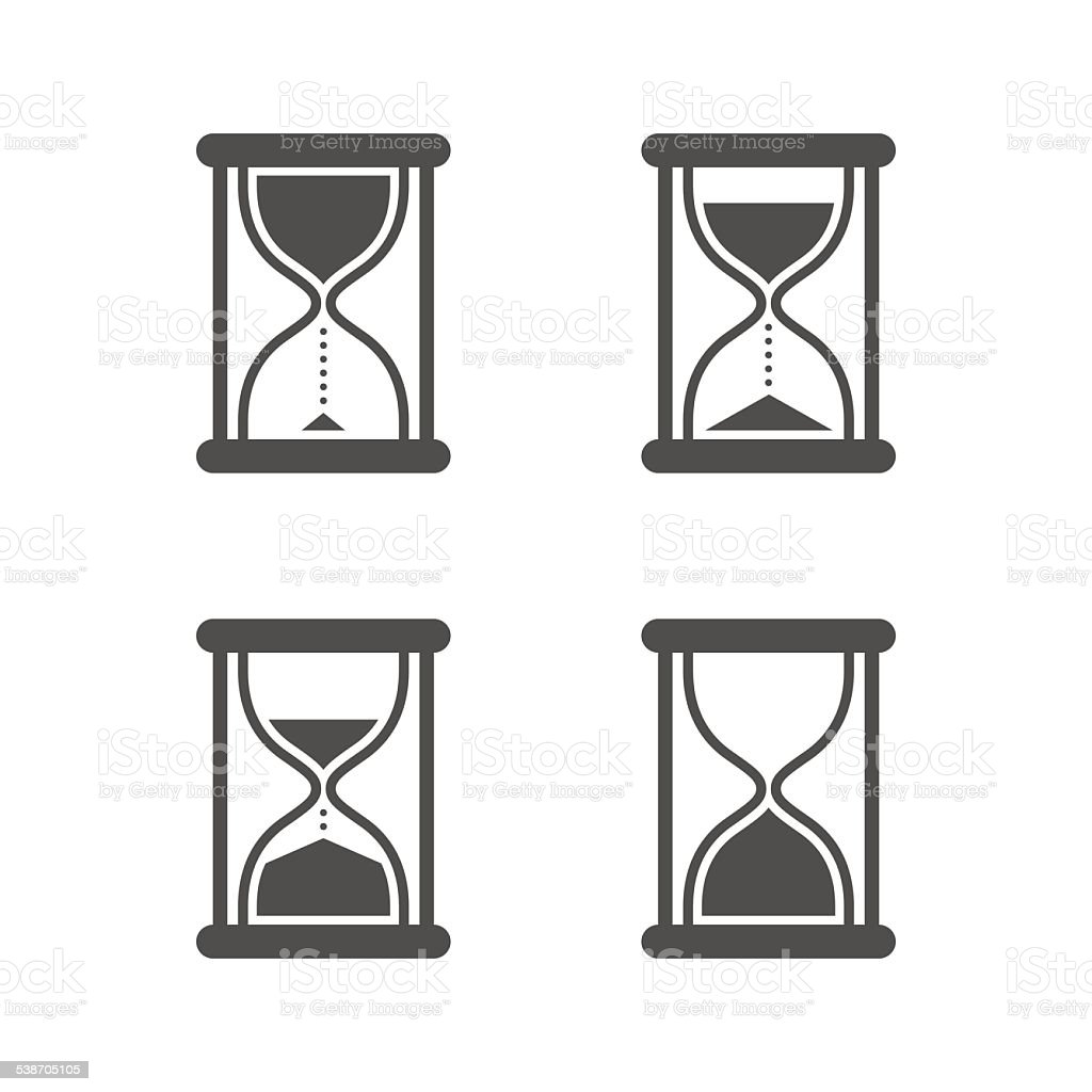 Vector isolated hourglasses icons set vector art illustration