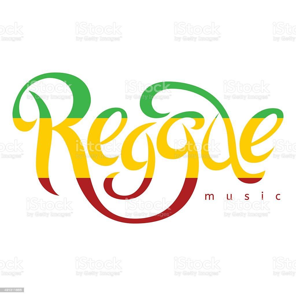 Vector isolated lettering poster in reggae style. vector art illustration