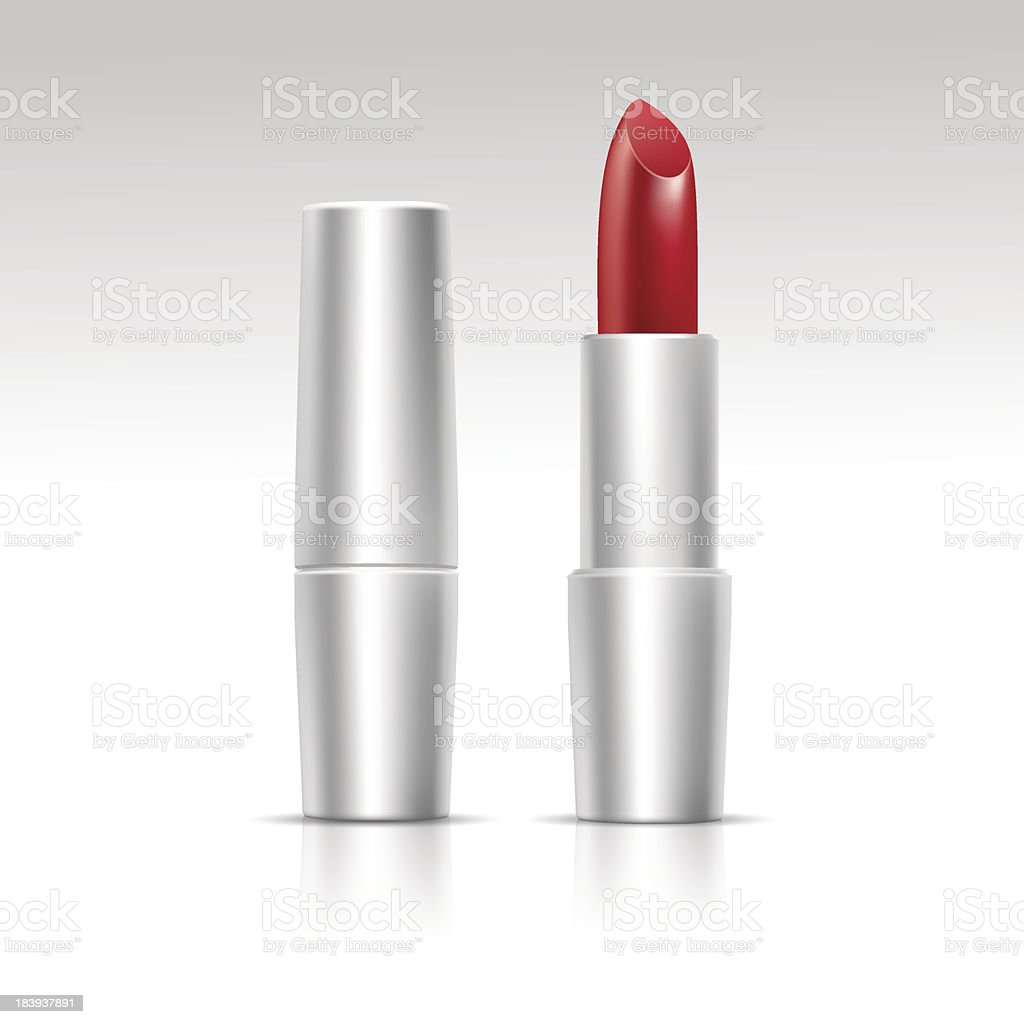 Vector Isolated Red Lipstick on White Background royalty-free stock vector art