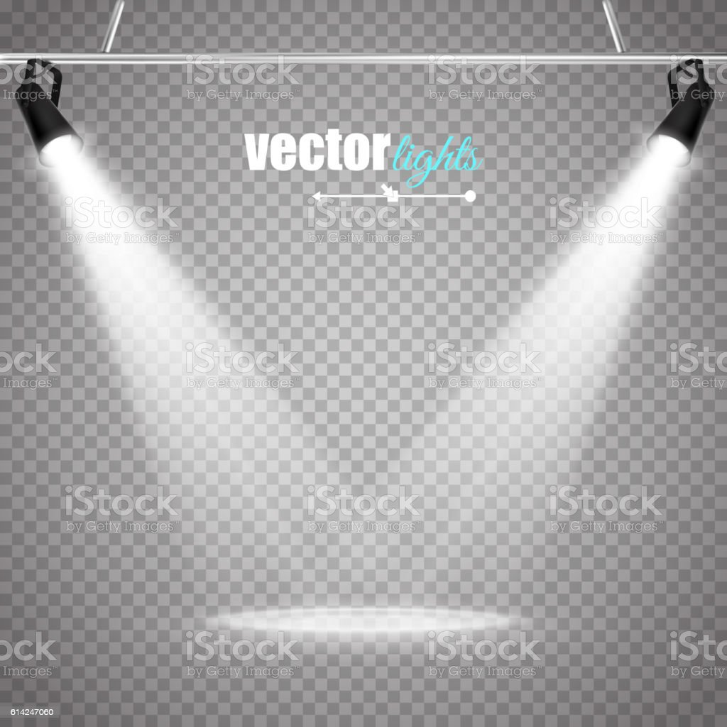 Vector Isolated Spotlight vector art illustration