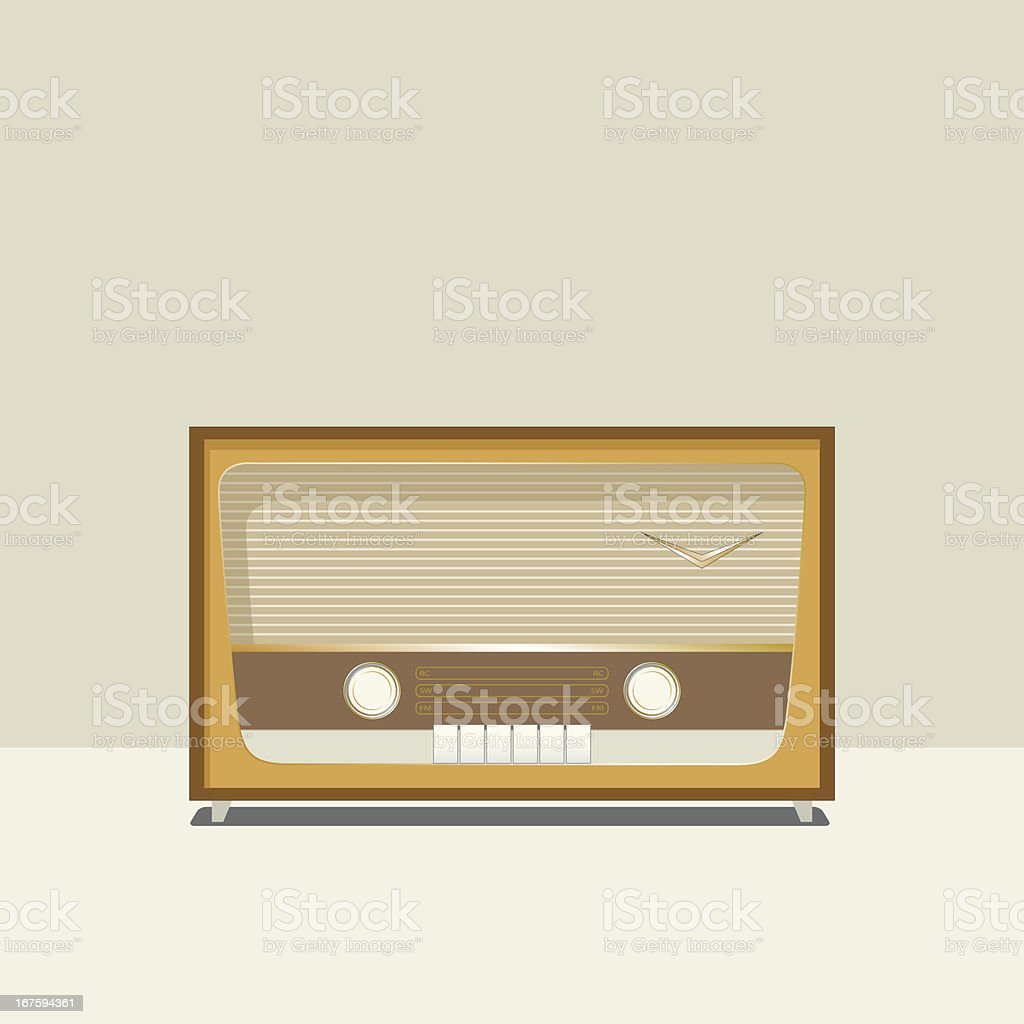 vector isolated vintage radio illustration royalty-free stock vector art