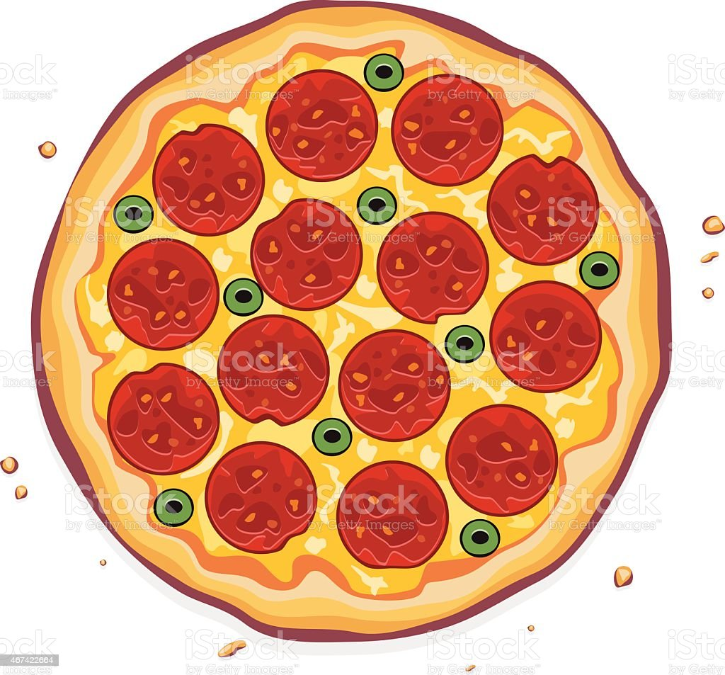 vector italian pizza vector art illustration