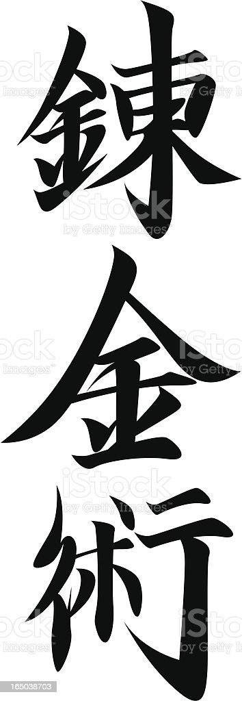 REQUEST vector - Japanese Kanji character ALCHEMY vector art illustration