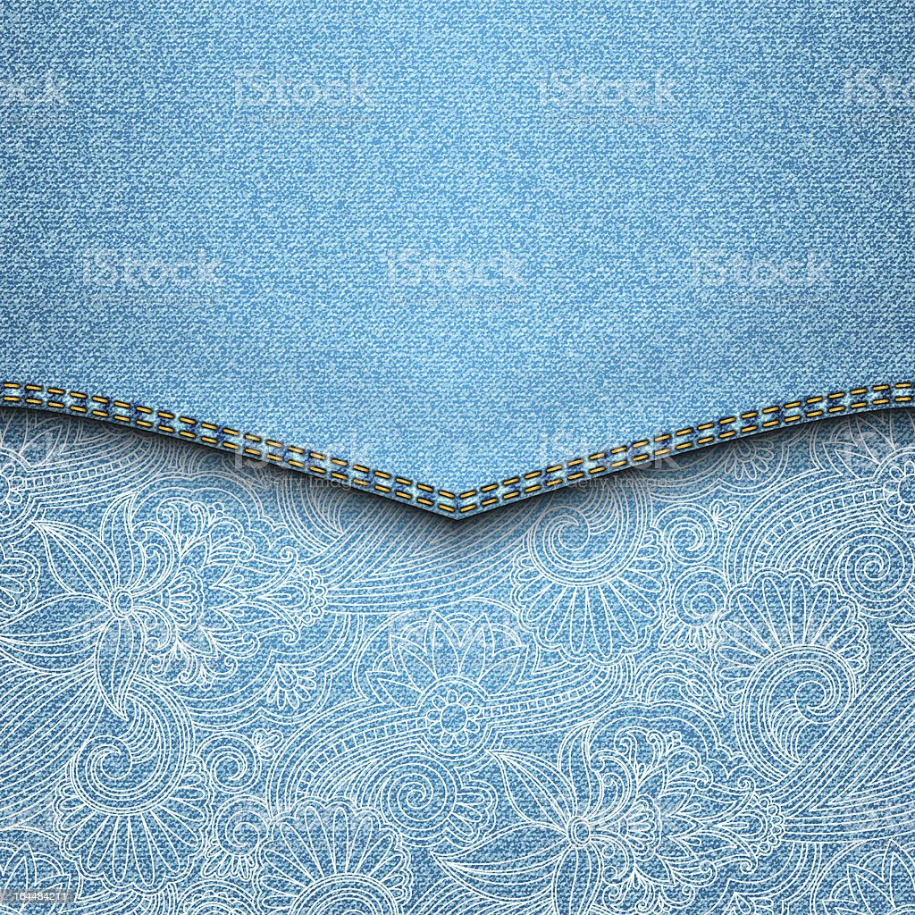 Vector jeans background. royalty-free stock vector art
