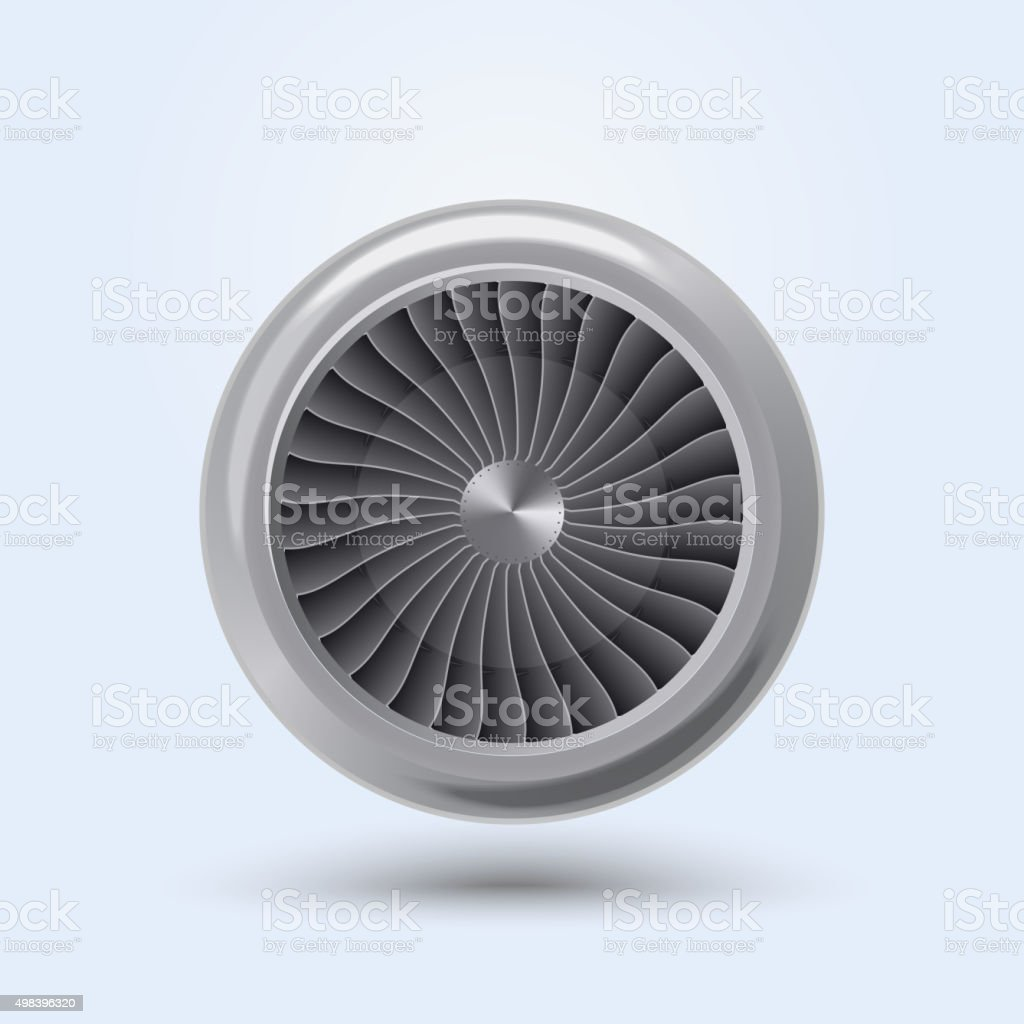 Vector Jet Engine vector art illustration