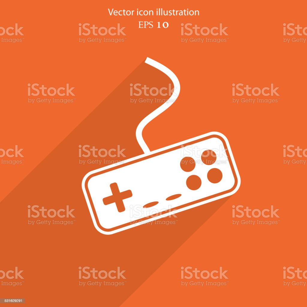 Vector joystick web icon vector art illustration