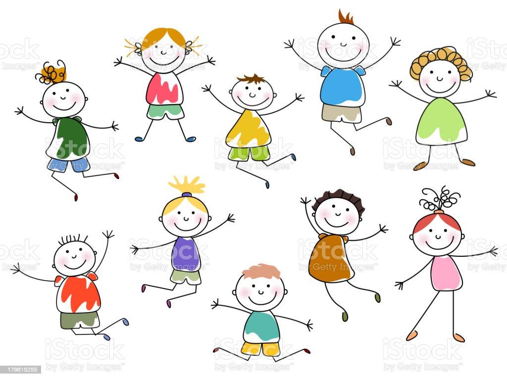 Vector Kids vector art illustration