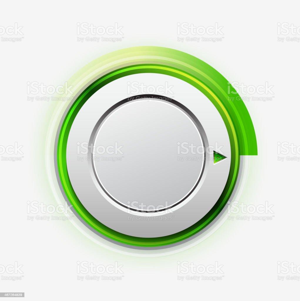 Vector knob switch vector art illustration