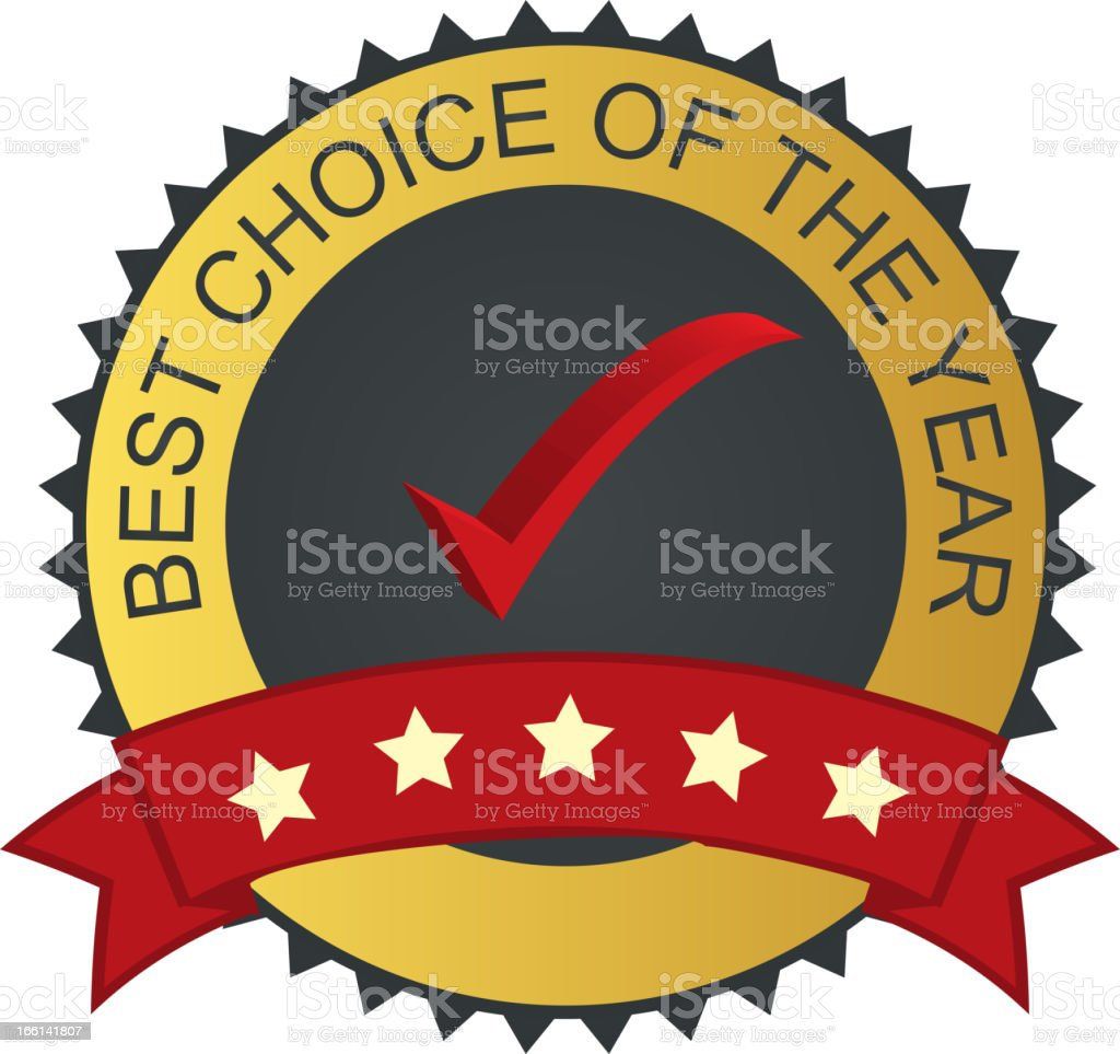 Vector label - best choice with checkmark tick royalty-free stock vector art