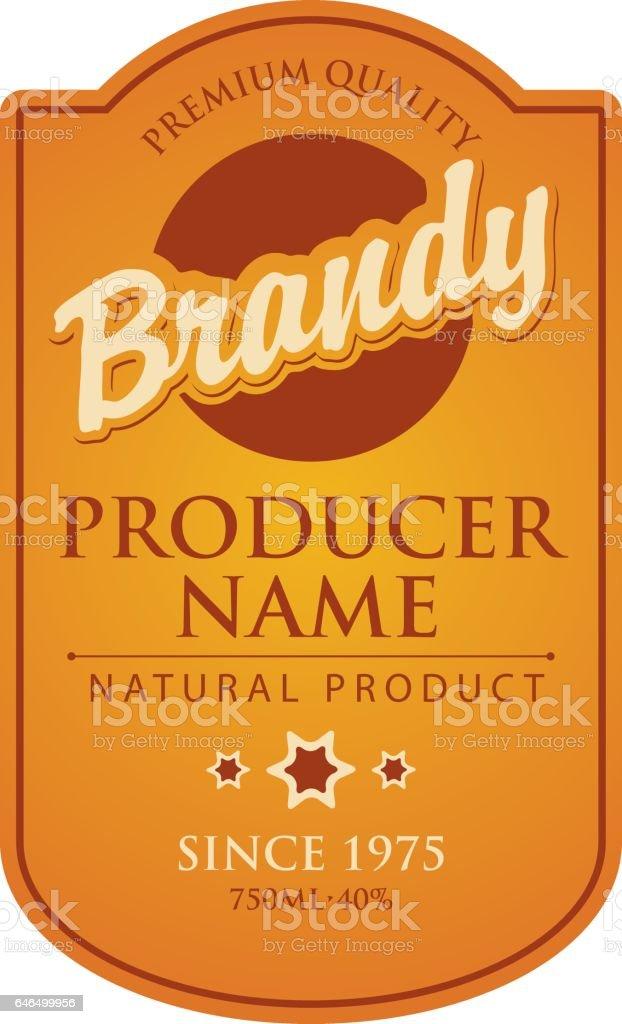 Vector label for brandy vector art illustration