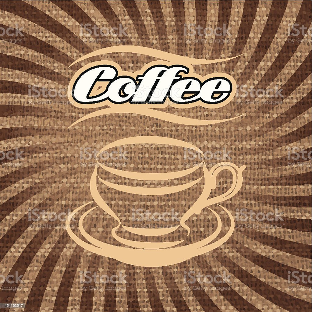 vector label for coffee royalty-free stock vector art