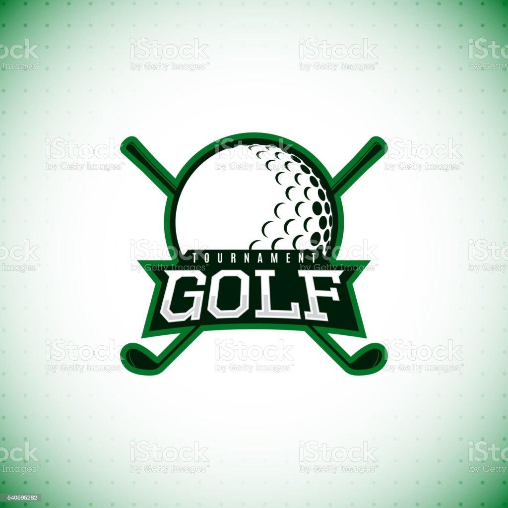Vector label of golf tournament. royalty-free stock vector art