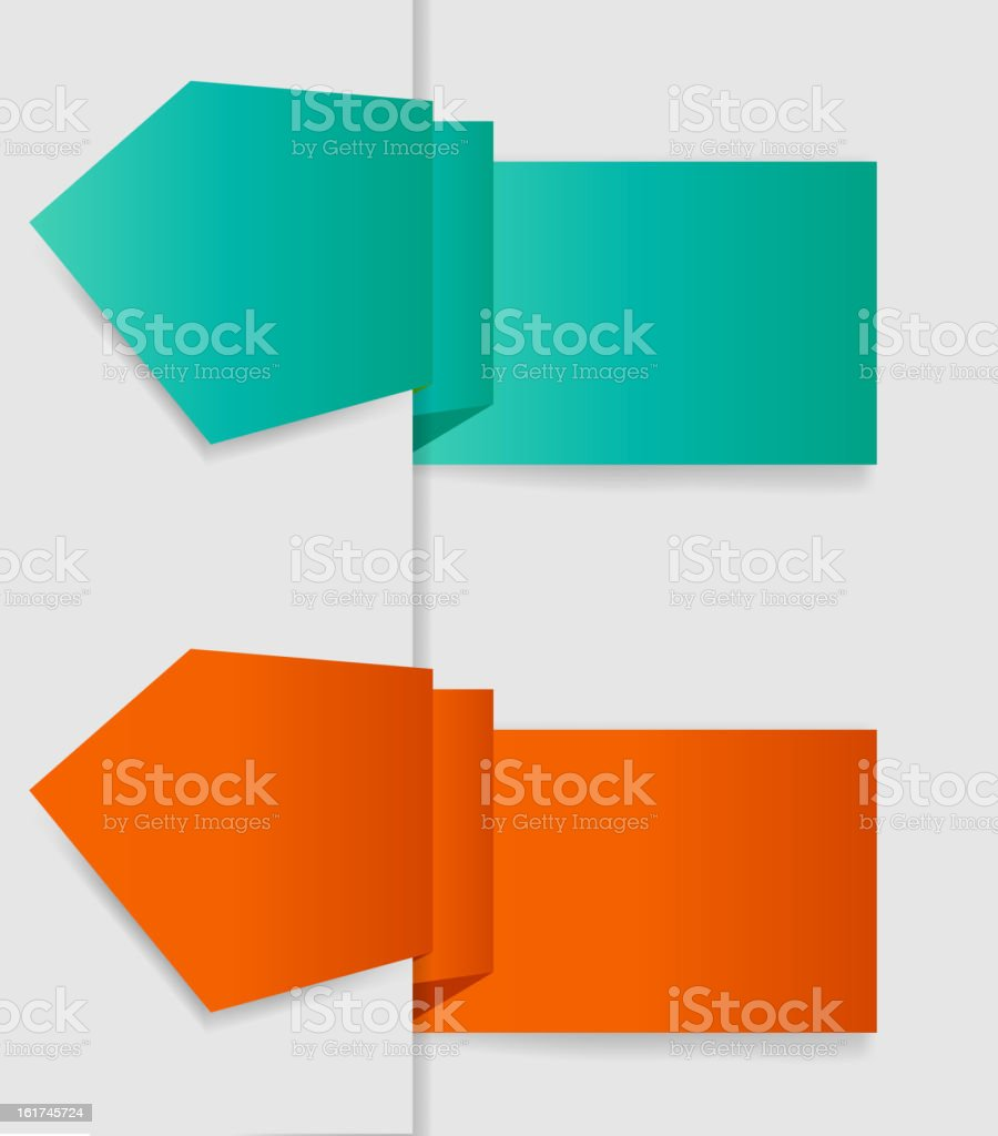Vector labels for business design. EPS 10 royalty-free stock vector art