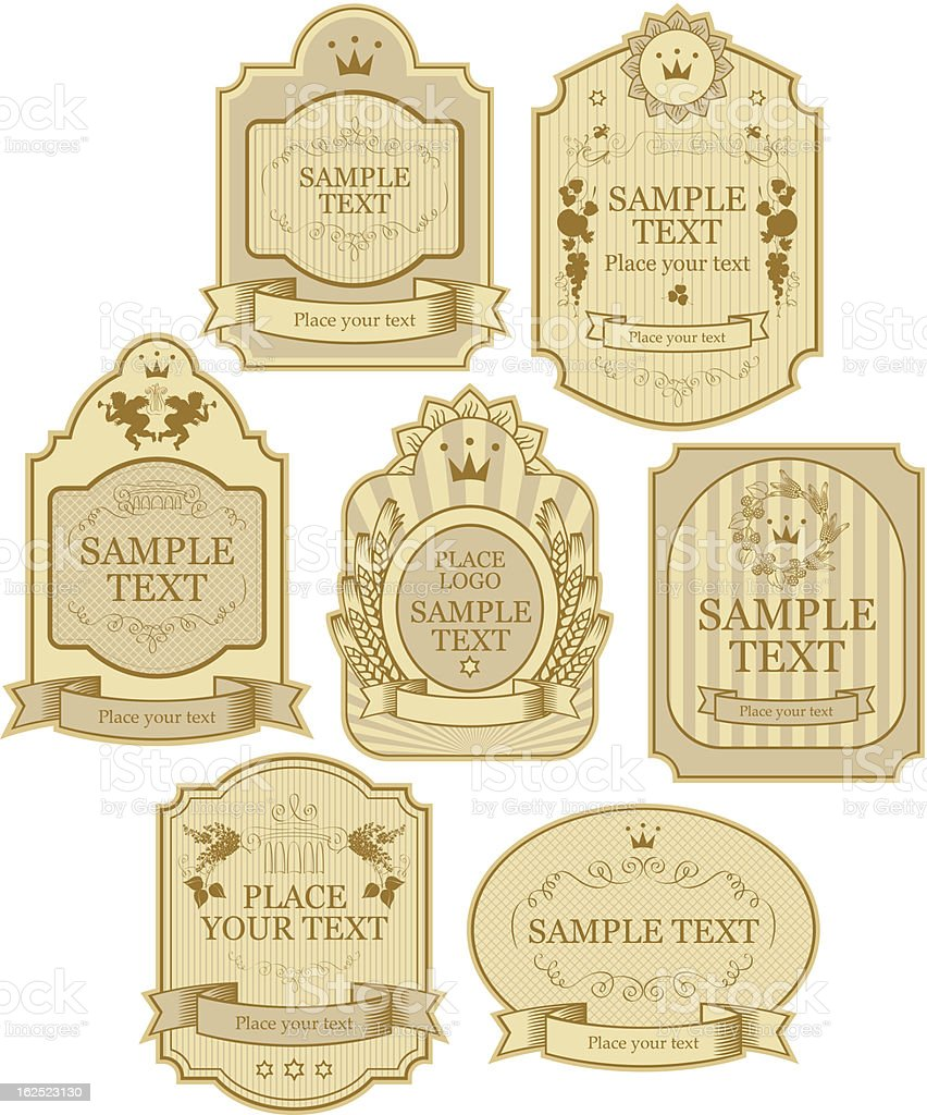 vector labels vector art illustration