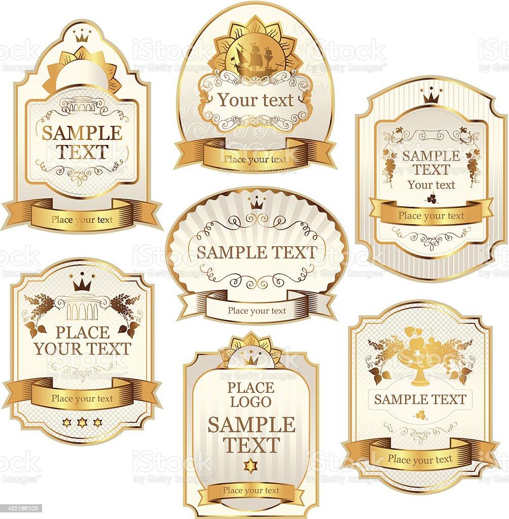 vector labels royalty-free stock vector art