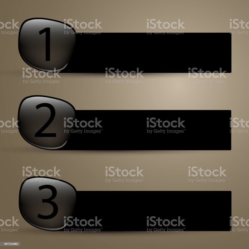 Vector labels with numbers royalty-free stock vector art
