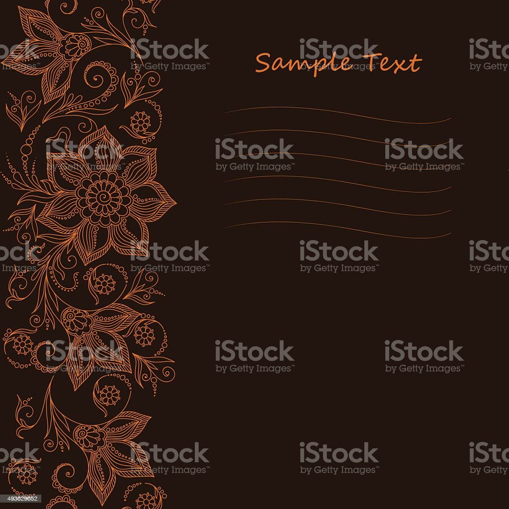 Vector Lace pattern for invitation or greeting card vector art illustration