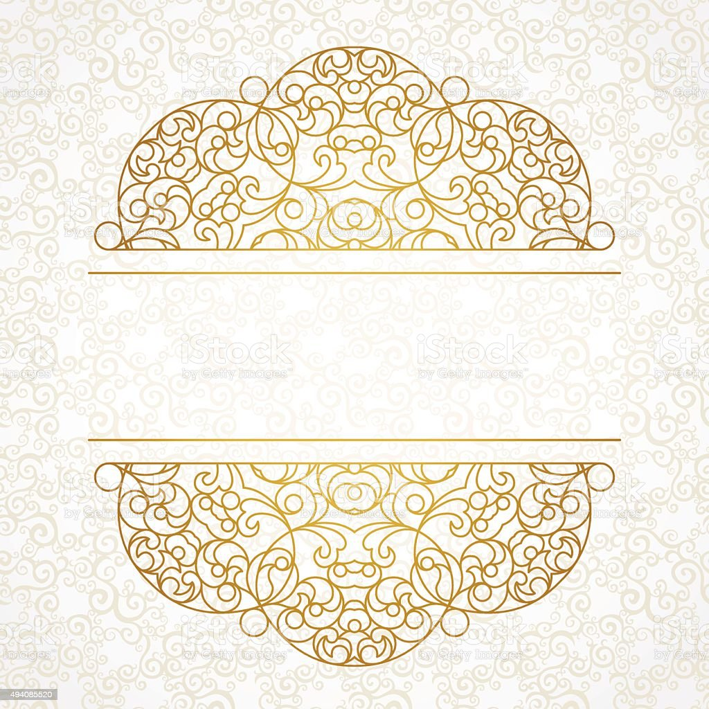 Vector lace pattern in Eastern style. vector art illustration