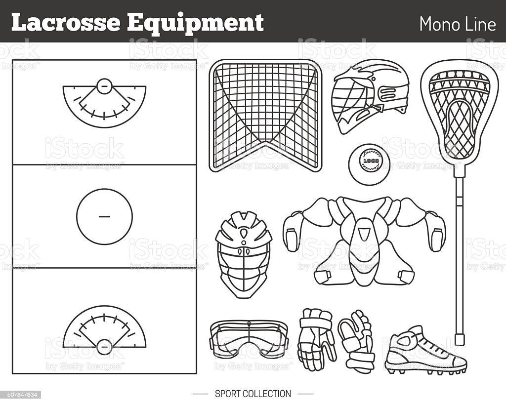 Vector lacrosse game design elements vector art illustration