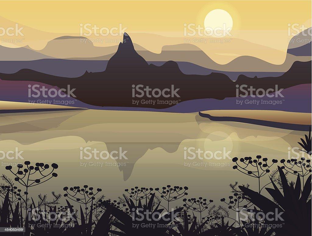 Vector landscape royalty-free stock vector art