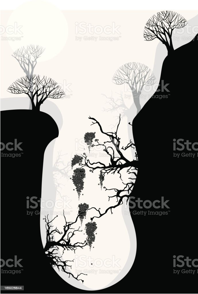Vector Landscape with Trees royalty-free stock vector art