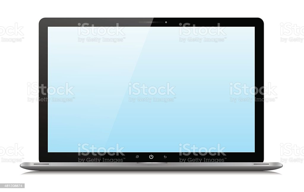 Vector Laptop isolated on white background vector art illustration