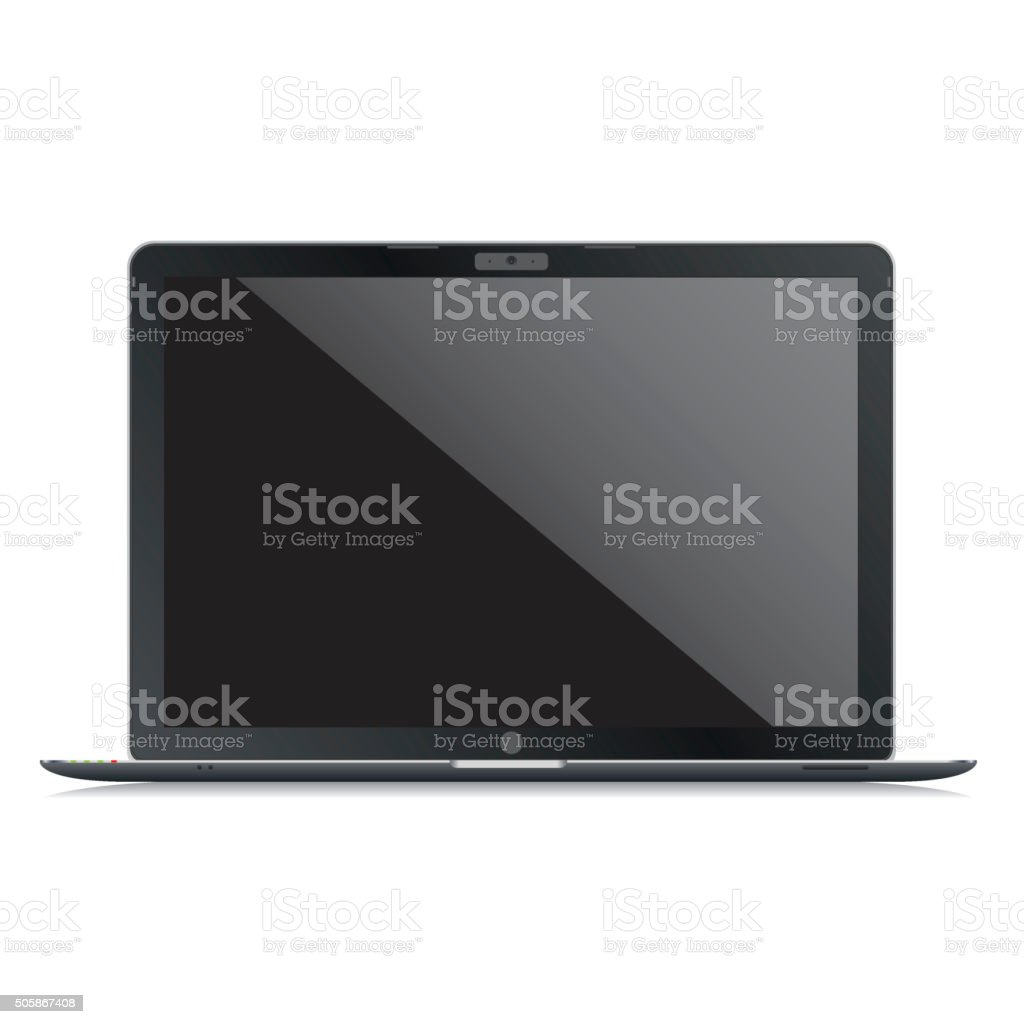 Vector Laptop Template stock photo