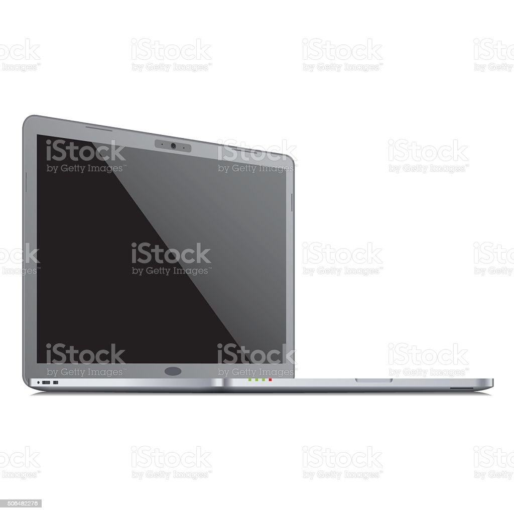 Vector laptop template vector art illustration